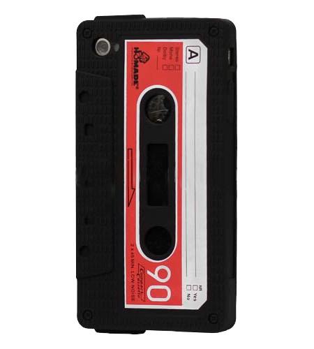 Coque iPhone 4/4S Cassette K7 Noir