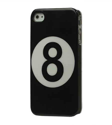 Coque iPhone 4/4S Boule de Billard Noir 8