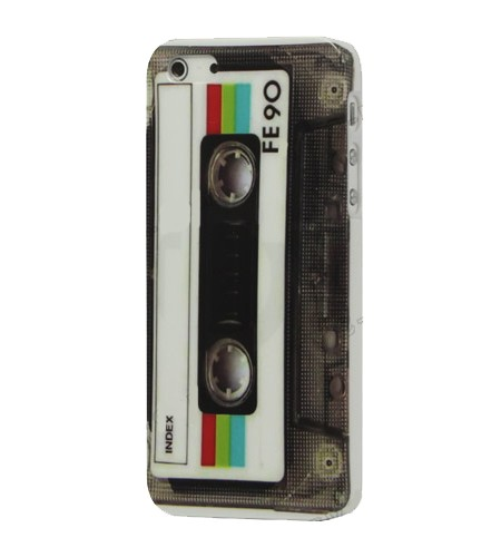 Coque iPhone 5/5S Cassette Rétro Glossy