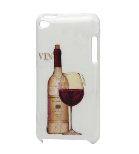 Coque iPod Touch 4 Vin Rouge