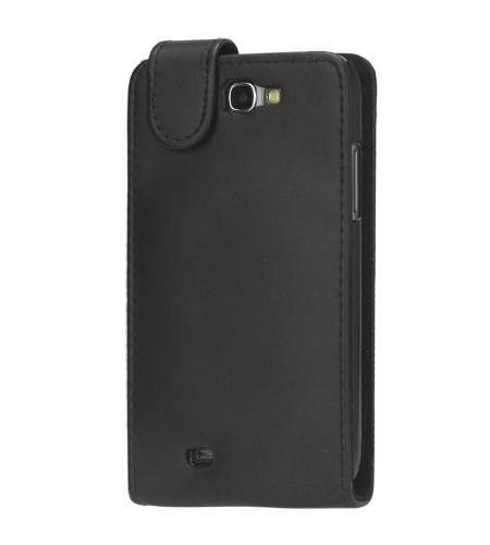 Coque Samsung Galaxy Note II Rabattable en Cuir Noir