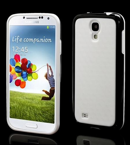 Coque Samsung Galaxy S IV Rebords colorés Noir
