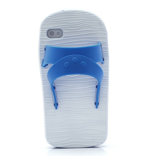 Coque iPhone 4/4S Sandale Bleu