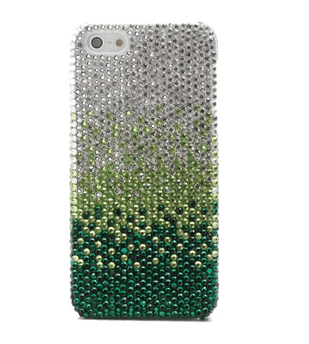 Coque iPhone 5/5S Dégradé de Strass Vert