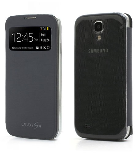 Cache Batterie Samsung S-View Cover Galaxy S4 Noir