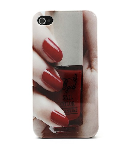 "Coque iPhone 4/4S ""Mon Vernis à Ongles"" Rouge"