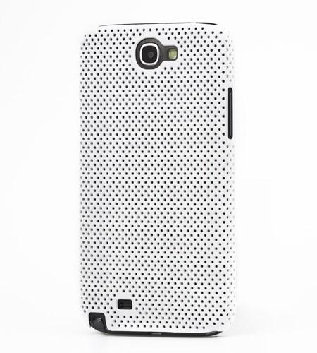 Coque Samsung Galaxy Note 2 Perforée Blanc