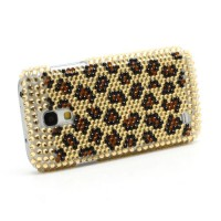 Coque Samsung Galaxy S4 Mini Léopard Strass