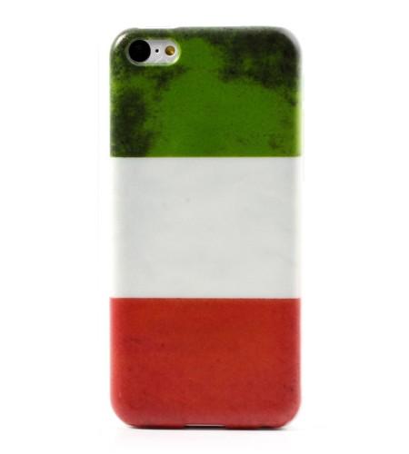 Coque iPhone 5C Drapeau Italie Rétro