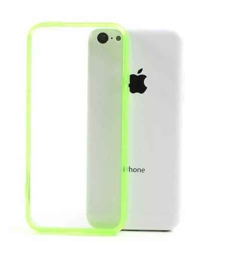 Coque iPhone 5C Rebords colorés Vert