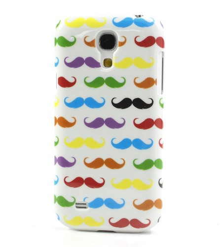 Coque Samsung Galaxy S4 Mini Multiples Moustaches Blanc