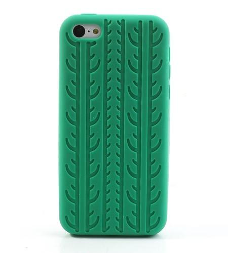 Coque iPhone 5C Pneu Vert