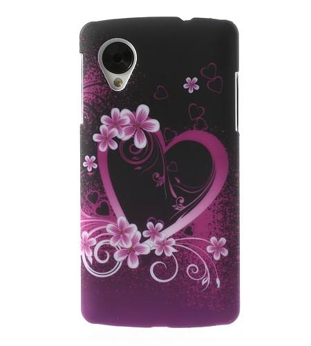 Coque Nexus 5 Coeur Fleuri