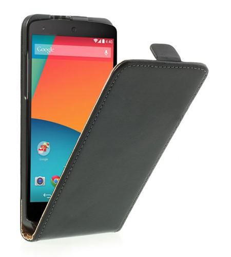 Coque Nexus 5 Rabattable - Noir
