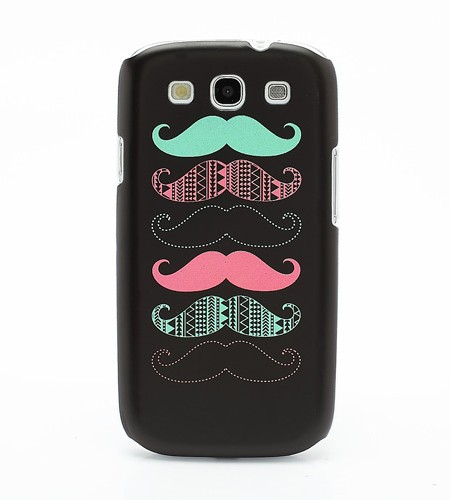 Coque Samsung Galaxy S3 Moustaches Noir