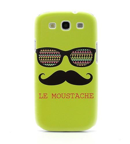 Coque Samsung Galaxy S3 «Le Moustache» – Vert