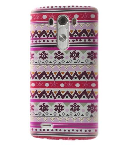 Coque LG G3 Aztèque Tribal – Rose