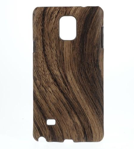 Coque Samsung Galaxy Note 4 Effet Bois - Marron Foncé